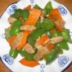 青椒胡萝卜炒肉