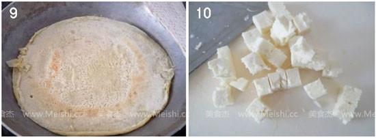 茄泥豆腐与荞麦煎饼的家常做法