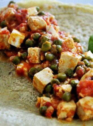 茄泥豆腐与荞麦煎饼的做法