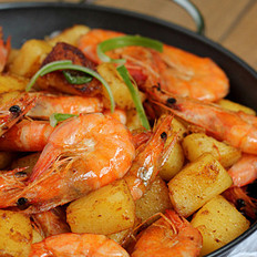 干锅土豆虾