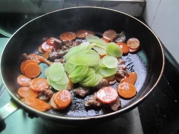 甘莴笋炒肉片怎么煮