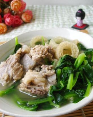 竹荪青菜骨汤的做法