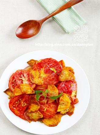 红柿炒土豆片的做法