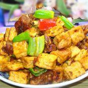 豆腐燒兔肉
