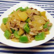 肉炒青椒土豆片
