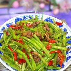 肉炒空心菜梗