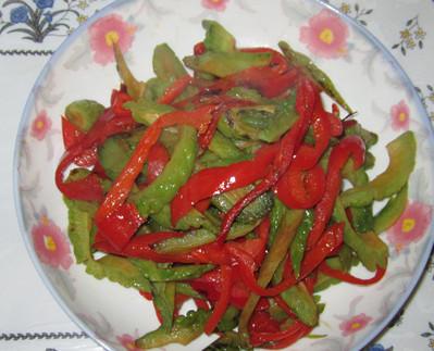 红椒苦瓜怎么煮