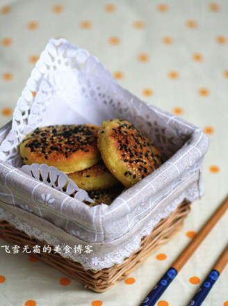 芝麻南瓜糯米餅的做法