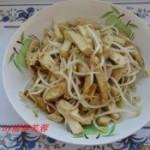 绿豆芽炒豆腐