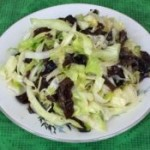 圓白菜炒木耳