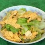 圓白菜炒雞蛋