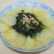 毛菜土豆蝦米湯