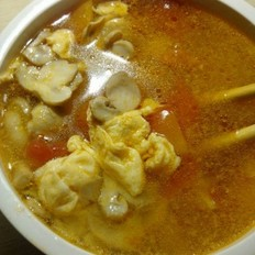 西紅柿蘑菇蛋湯
