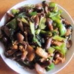 小白菜炒黏蘑