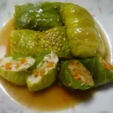卷心菜包豆腐