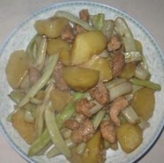 土豆豆角炖肉
