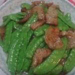 五花肉炒荷兰豆