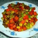 胡萝卜黄瓜炒肉