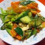 雞蛋炒青椒黃瓜片