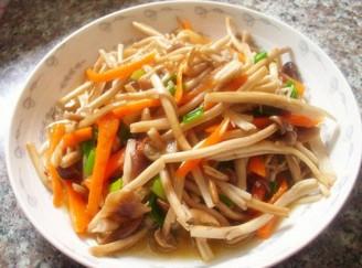 清炒茶樹菇的做法