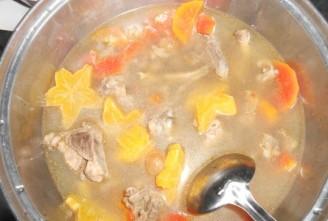 杨桃木瓜汤的做法