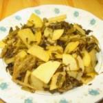 雪菜炒土豆片
