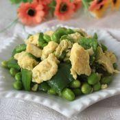 青椒毛豆炒雞蛋