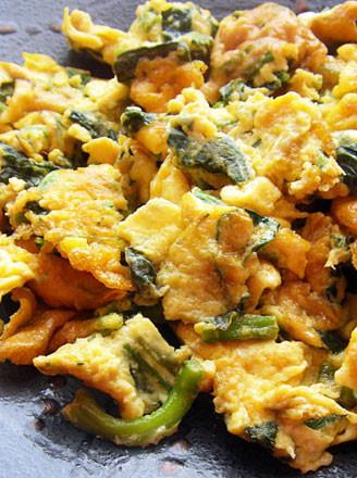 菠菜攤雞蛋的做法
