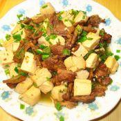 豆腐烩肉片