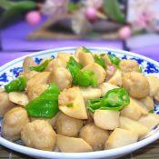 杏鮑菇燒魚丸