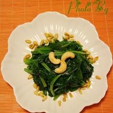 菠菜炒堅果