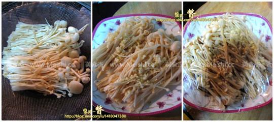 蒜蓉蒸金针菇的家常做法
