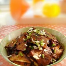 豆豉茭白炒肉片