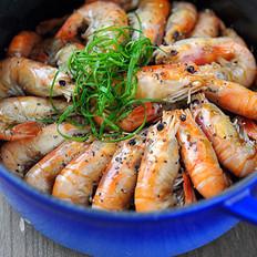 黑椒干锅虾