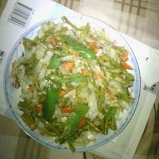 酸豆角炒圆白菜