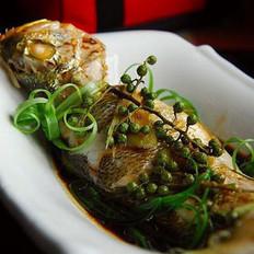 青花椒蒸鱼