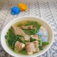 西洋菜滾瘦肉粉腸湯