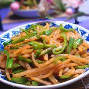大头菜丝炒青椒