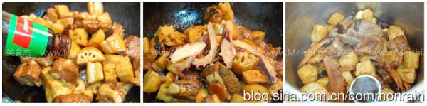 鱿鱼排骨烧莲藕的简单做法