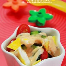 煎蛋水果沙拉