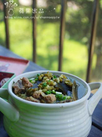 绿豆海带排骨汤的做法