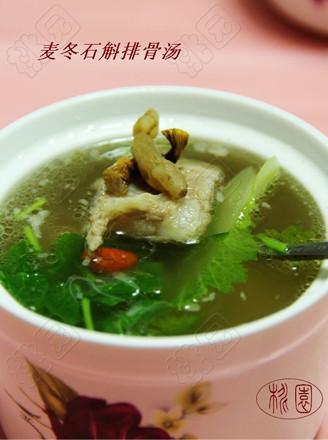 麦冬石斛排骨汤的做法