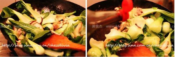 肉末香菇油菜的做法图解