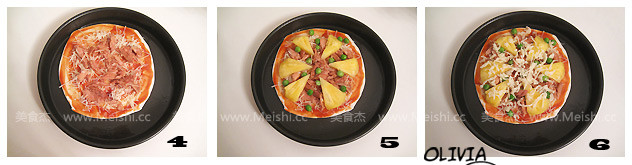 菠萝金枪鱼披萨的做法图解