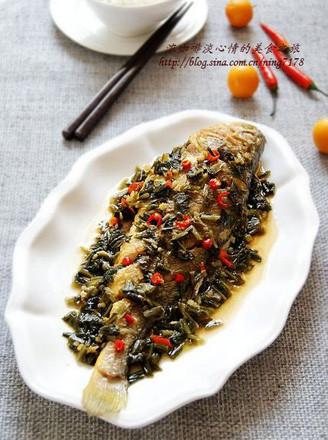 雪菜燒黃魚的做法