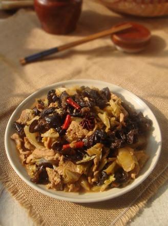 木耳白菜炒肉片的做法