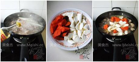 山药胡萝卜炖羊腿的家常做法