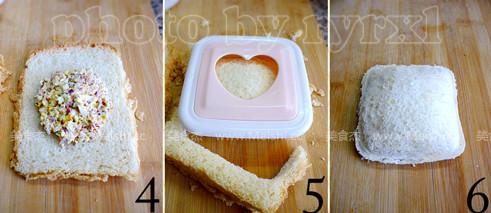 咸蛋金枪鱼三明治的做法图解