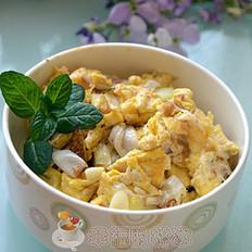 葱白炒鸡蛋