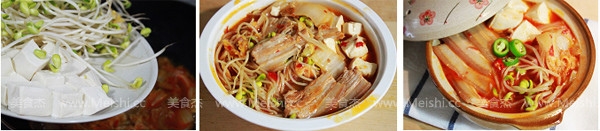 辣白菜五花肉煲的家常做法